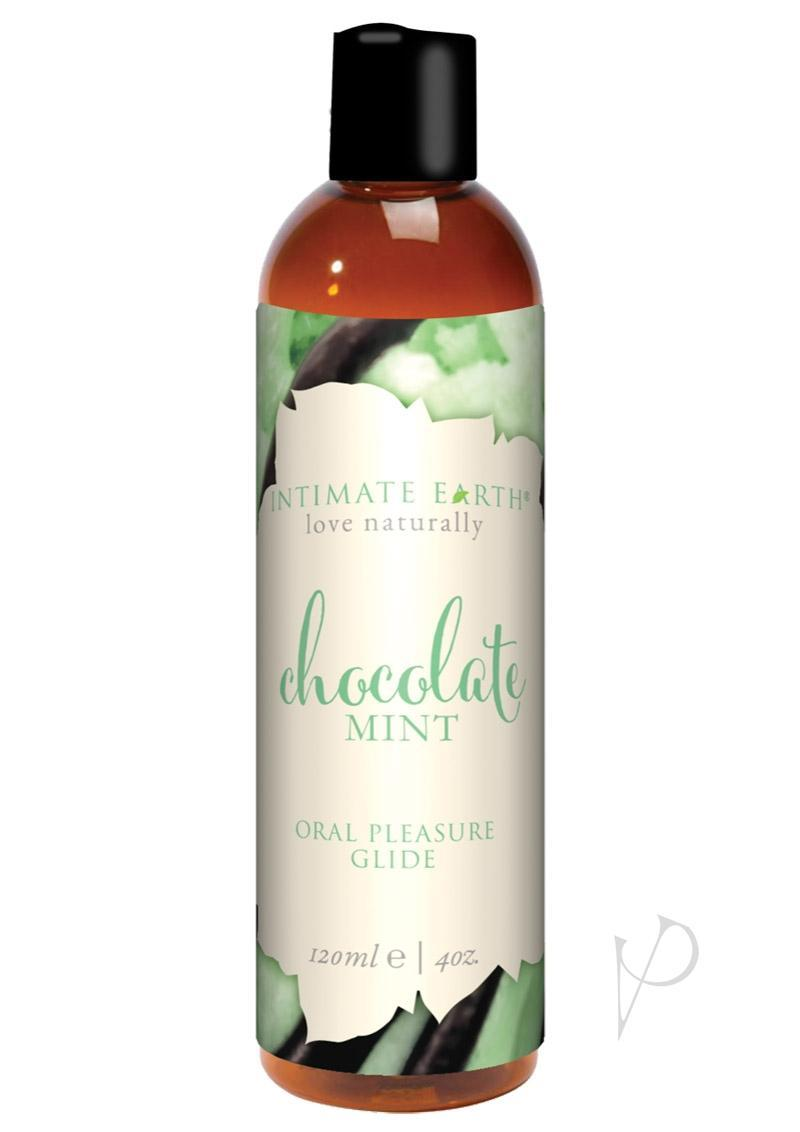 Intimate Earth Pure Vegan Oral Pleasure Glide Chocolate Mint 4 Ounce